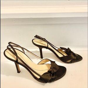 Kate Spade Brown Satin Heels Size 8.5M